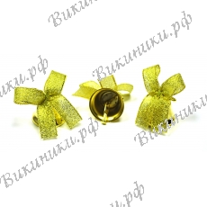 Колокольчик для выпускника с золотой GOLD ленточкой